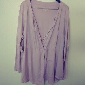 Soft Surroundings pink asymmetrical tunic